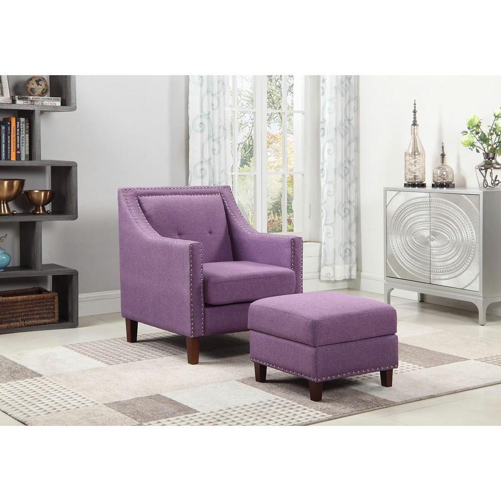 Fantastic Purple Accent Chair With Storage Ottoman 92013 16Pl The Uwap Interior Chair Design Uwaporg