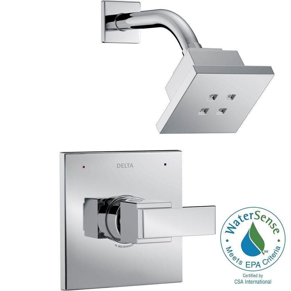 Delta Ara 1 Handle Shower Faucet Trim Kit In Chrome Featuring
