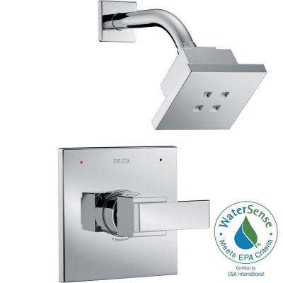 Ara 1-Handle Shower Faucet Trim Kit in Chrome Featuring H2Okinetic (Valve Not Included)