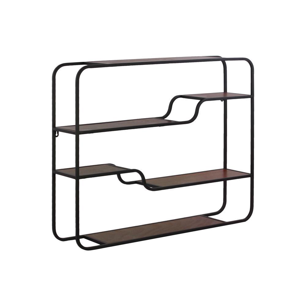 30 in. x 23.75 in. 1 Metal Wall Shelf