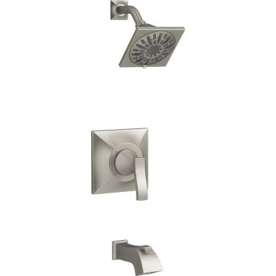 Truss Rite-Temp 1-Handle 3-Spray Tub and Shower Faucet in Vibrant Brushed Nickel (Valve Included)