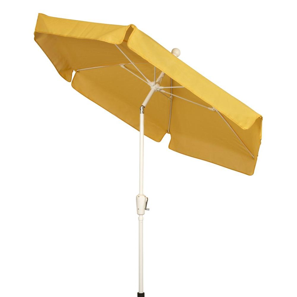 Fiberbuilt Umbrellas 7.5 ft. Patio Umbrella in Yellow