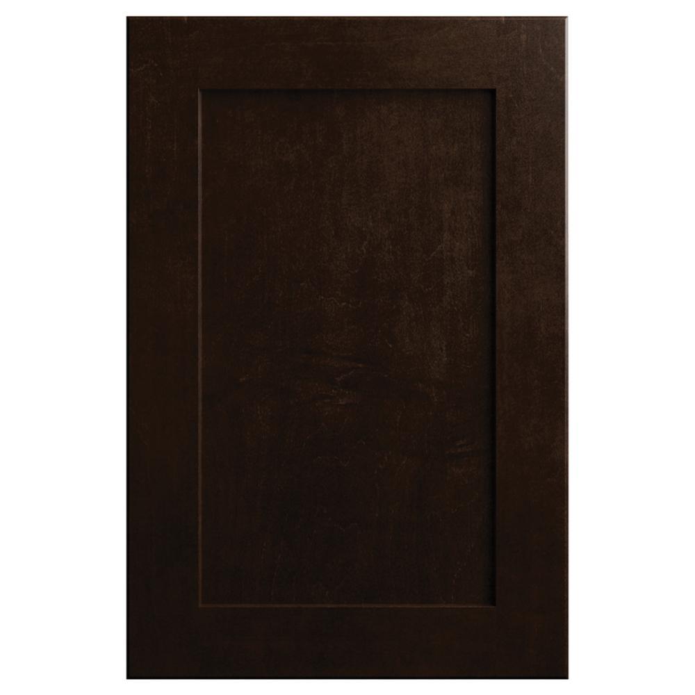 11x15 in. Soleste Cabinet Door Sample in Espresso Oak