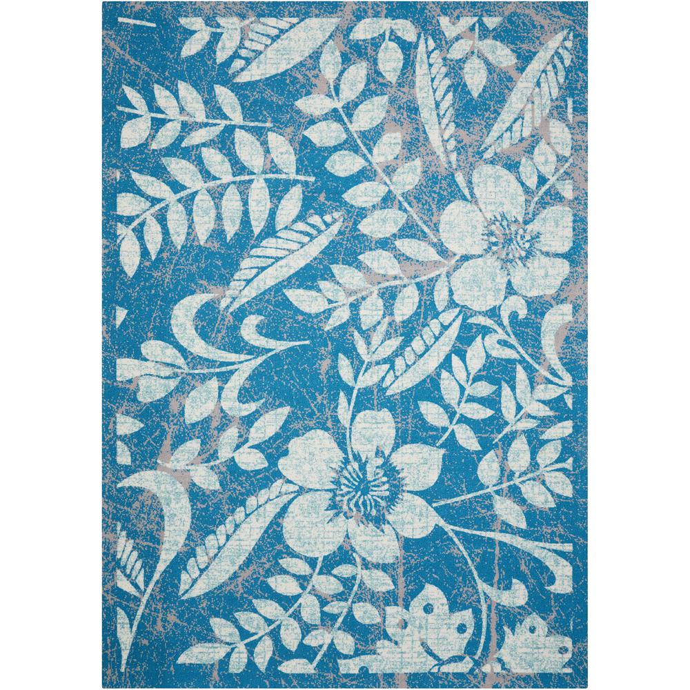 Nourison Home And Garden Blue 10 Ft X 13 Ft Indoor