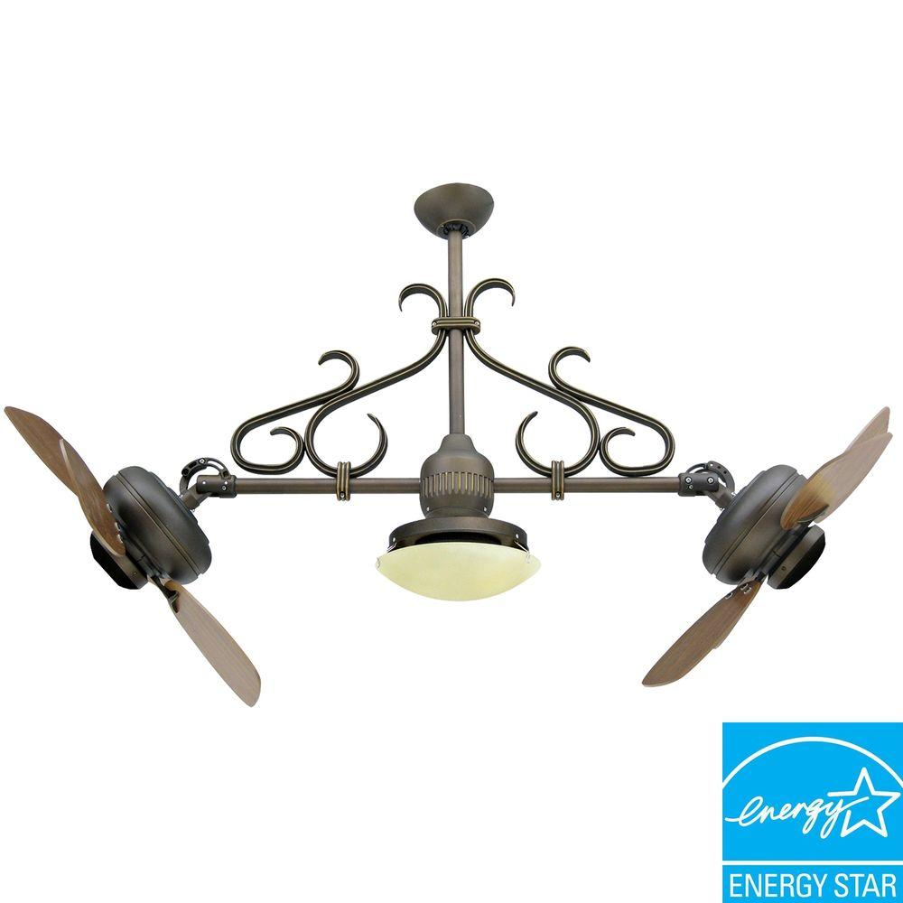 Yosemite Home Decor Typhoon 26 in. Indoor Oil-Rubbed Bronze Ceiling Fan with-DISCONTINUED