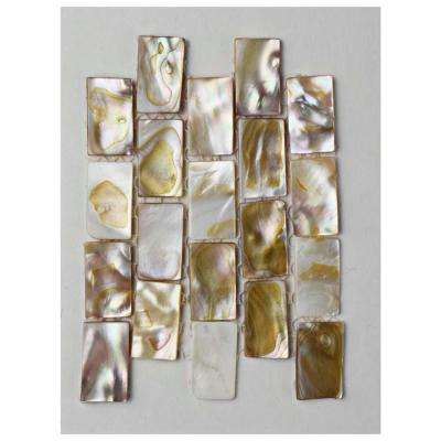 Conchella Subway Natural Seashell Mosaic Tile - 3 in. x 4 in. Tile Sample