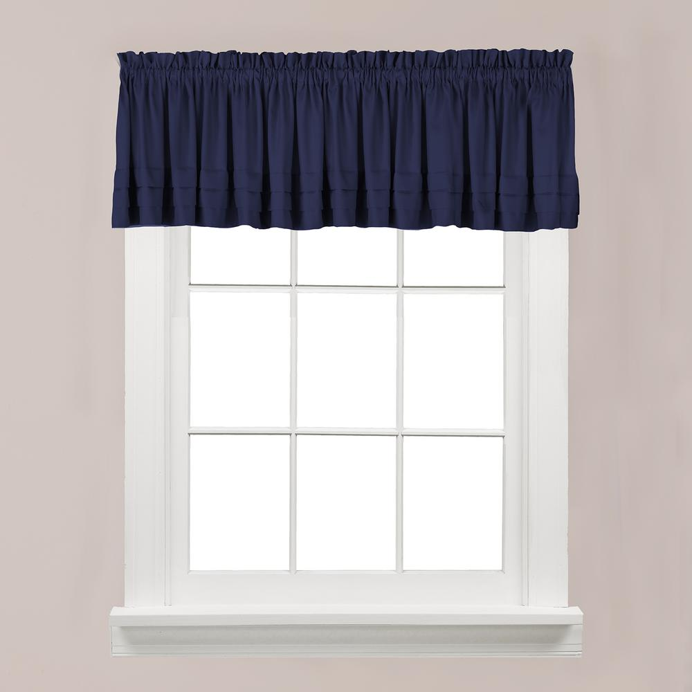 Saturday Knight Holden 13 in. L Polyester Valance in Navy