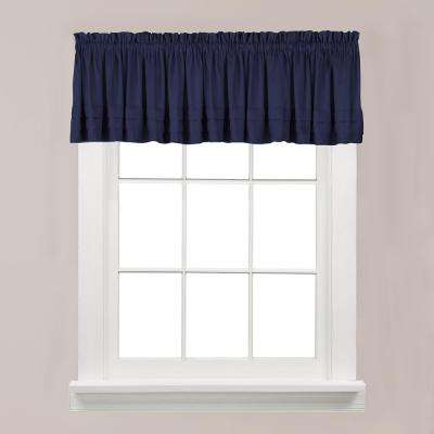 Holden 13 in. L Polyester Valance in Navy