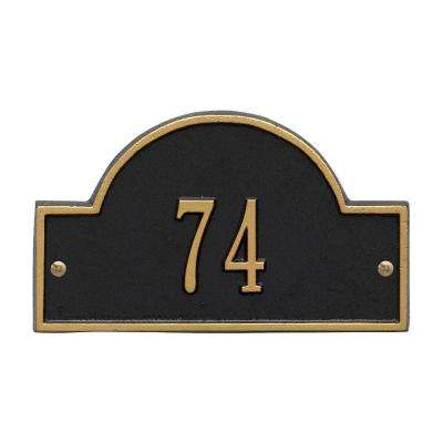 Arch Marker Petite Black/Gold Wall 1-Line Address Plaque