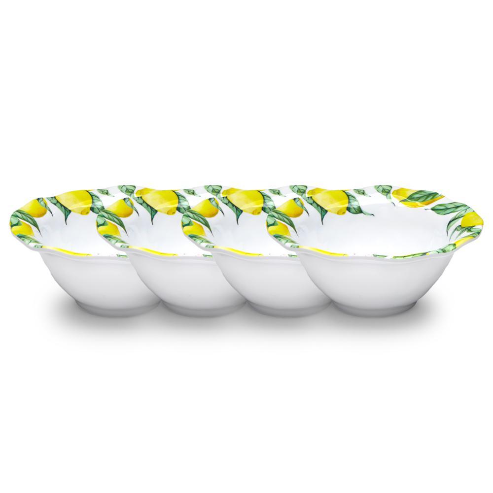Limonata 4-Piece Yellow Melamine Cereal Bowl Set