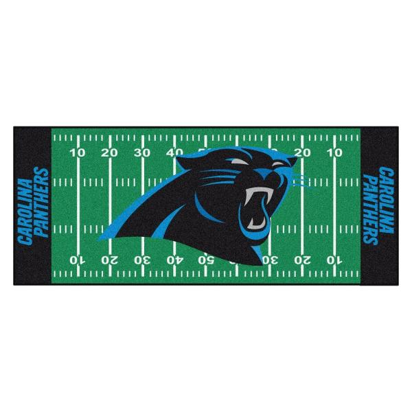 Carolina Panthers 3 ft. x 6 ft. Football Field Runner Rug