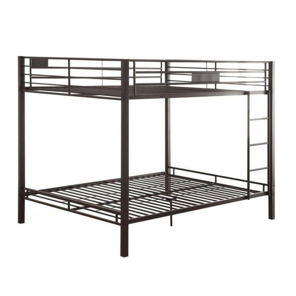 Amelia Sandy Black Metal Full Bunk Bed
