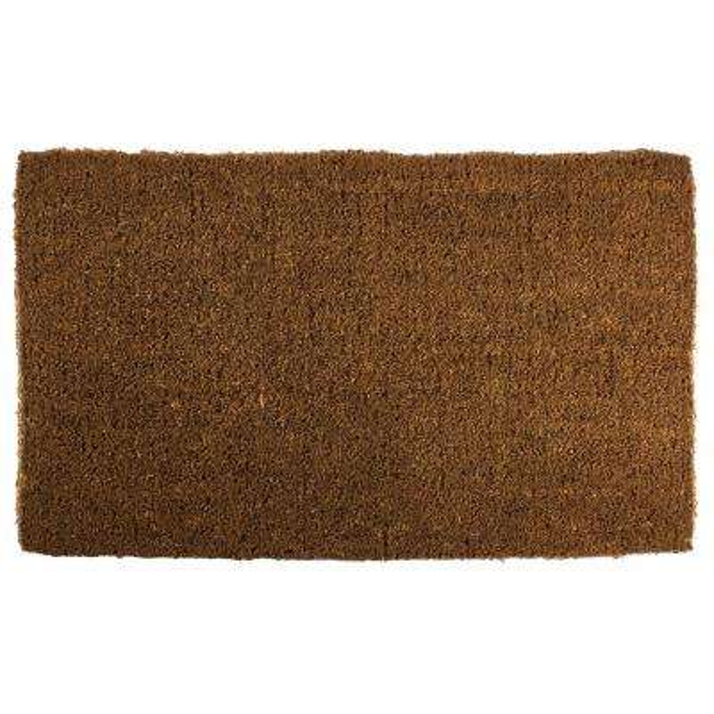 Blank 18 in. x 30 in. Extra Thick Hand Woven Coir Door Mat