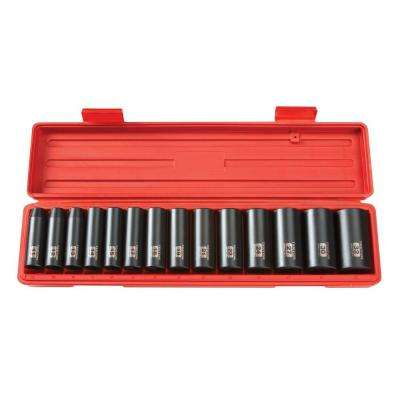 1/2 in. Drive 11-32 mm 12-Point Deep Impact Socket Set