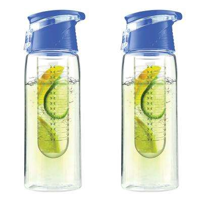 Pure Flavor 2 Go 20 oz. Blue Water Bottle (2-Pack)