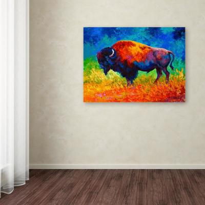 """35 in. x 47 in. """"Master of His Herd"""" by Marion Rose Printed Canvas Wall Art"""