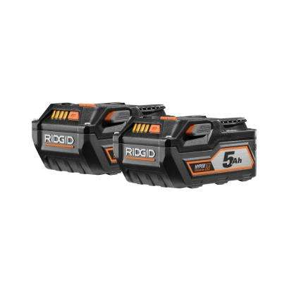 18-Volt Lithium-Ion 5.0 Ah Battery Pack (2-Pack)