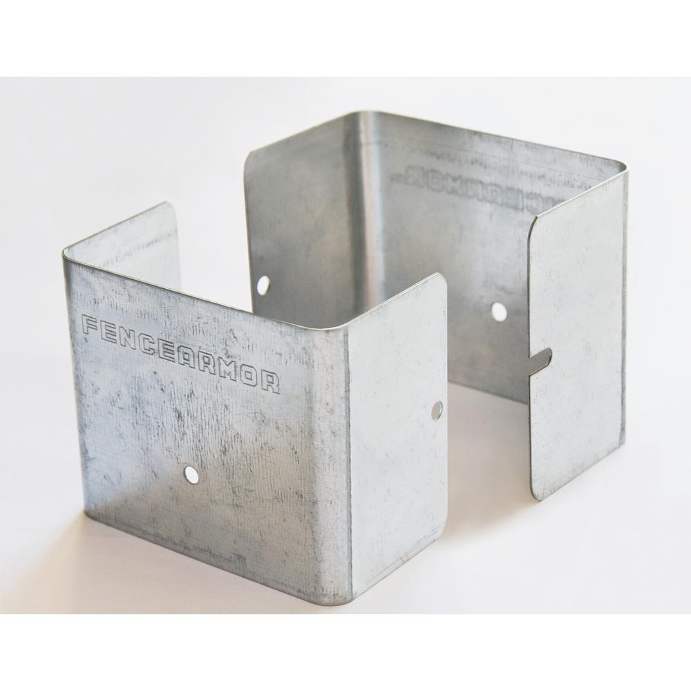 Fence Armor Galvanized Steel Fence Post Guard 3.5 In. L X