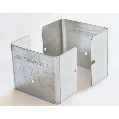 Galvanized Steel Fence Post Guard 3.5 in. L x 3.5 in. W x 3 in. H for Wood