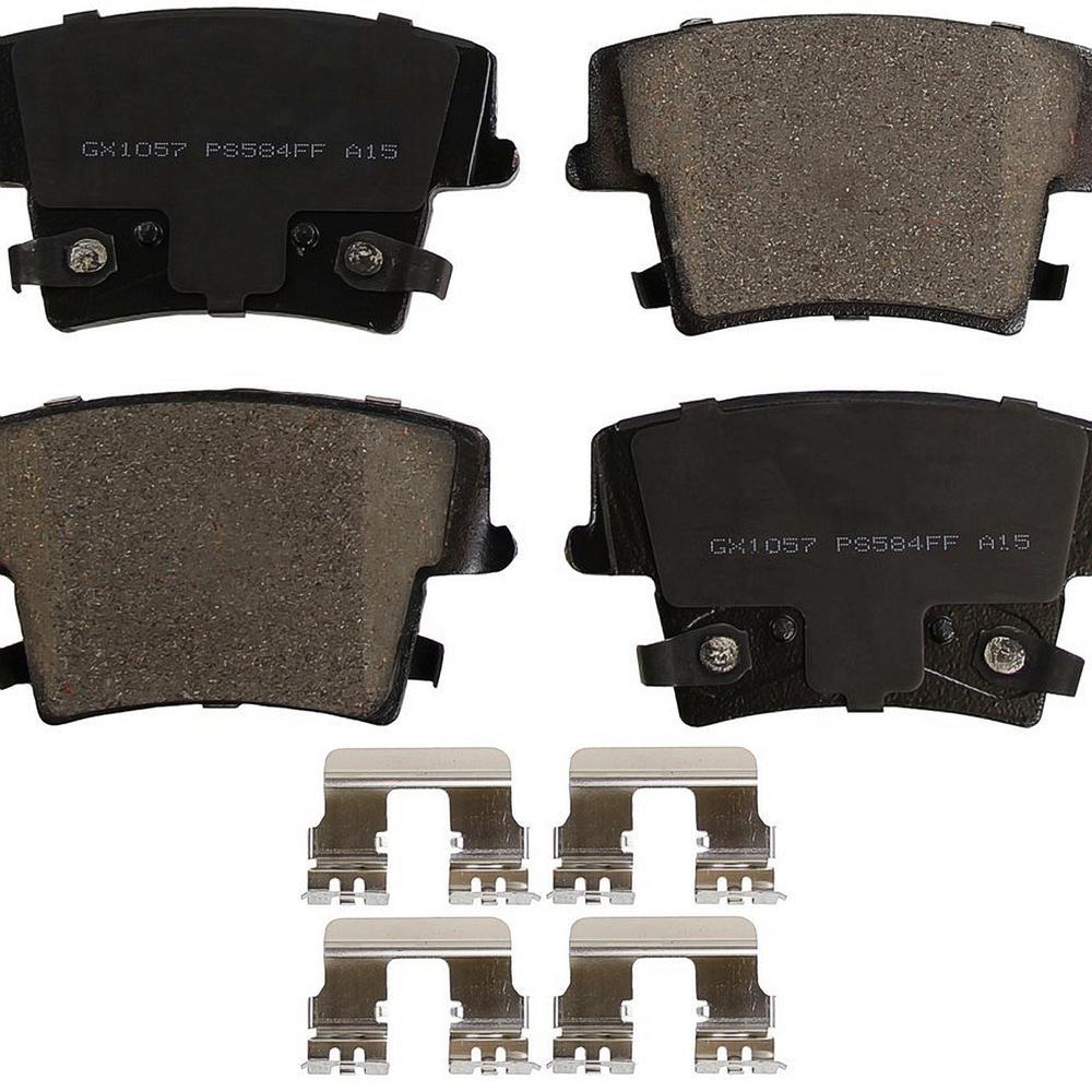 Rear ProSolution Ceramic Brake Pads fits 2005-2016 Dodge Charger Challenger Challenger,Charger