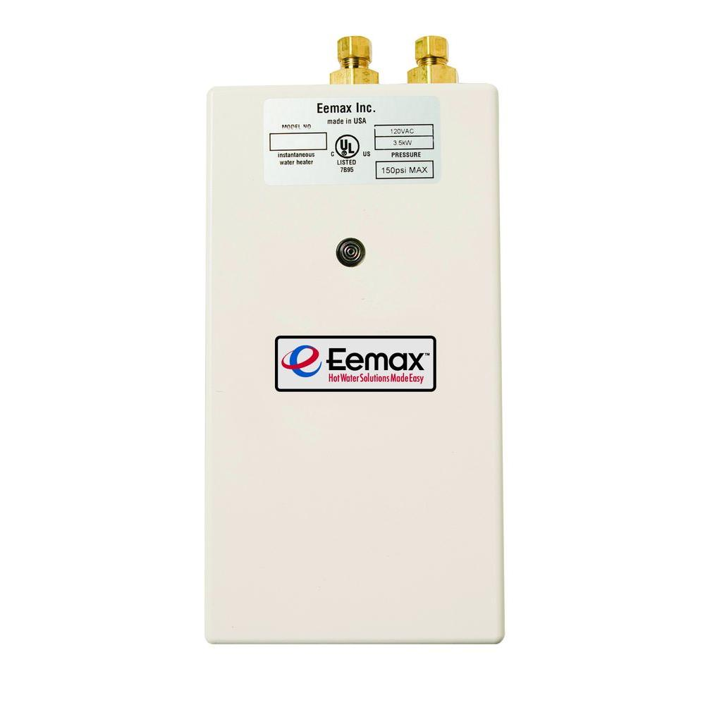 Eemax Single Point 2.4 KW 120 Volt 0.3gpm 2.0gpm Electric Tankless Water  Heater