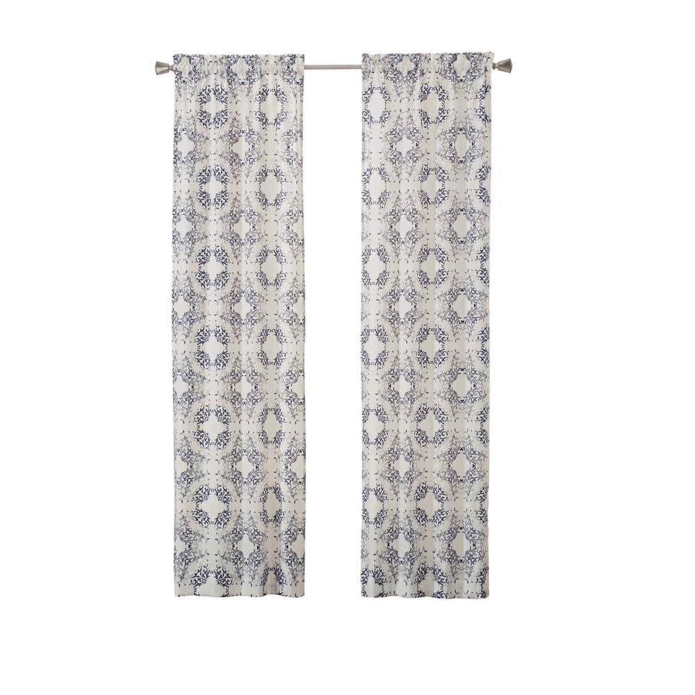 Aldrich Window Curtain Panels in Indigo - 56 in. W x 63 in. L (2-Pack)
