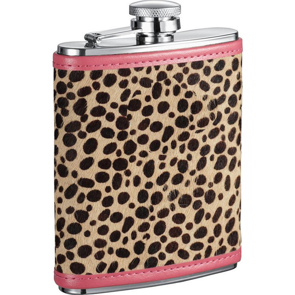 Cheetah X Pink and Cheetah Pattern Liquor Flask
