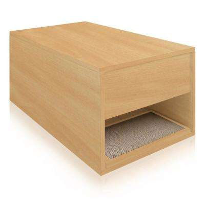 Eco zBoard Natural Modern Cat Litter Box Enclosure and Side Table