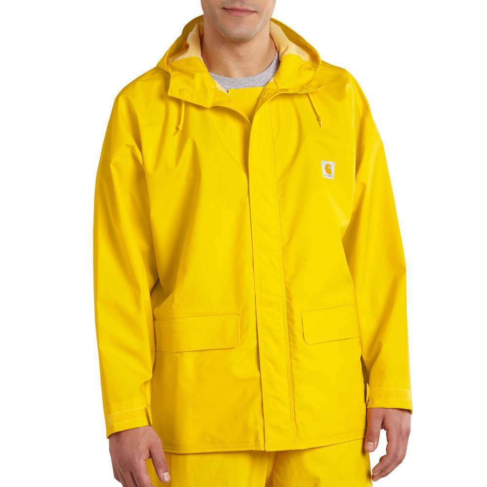 Carhartt Men's Extra-Large Tall Yellow PVC Blend Mayne Lightweight PVC Coat