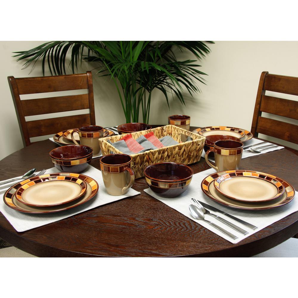 Casa Estebana 16-Piece Beige Dinnerware Set
