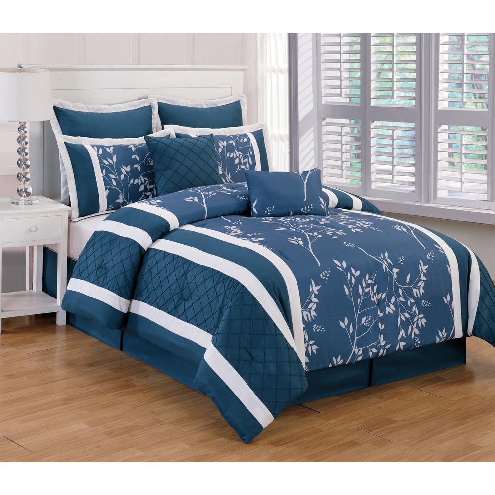 Kensie Riverbank 8-Piece Indigo Queen Comforter