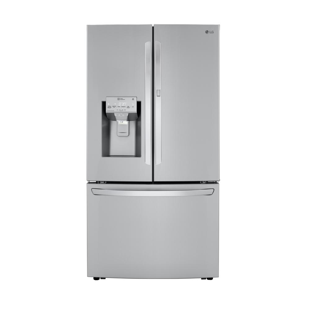 LG Electronics 24 cu. ft. French Door Smart Refrigerator with Door-in-Door and Wi-Fi Enabled in PrintProof Stainless Steel was $3799.0 now $2428.2 (36.0% off)