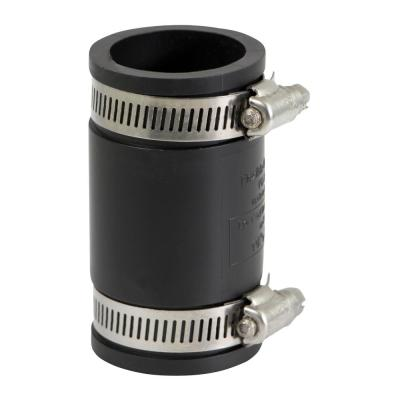 1-1/4 in. PVC Flexible Coupling with Stainless Steel Clamps