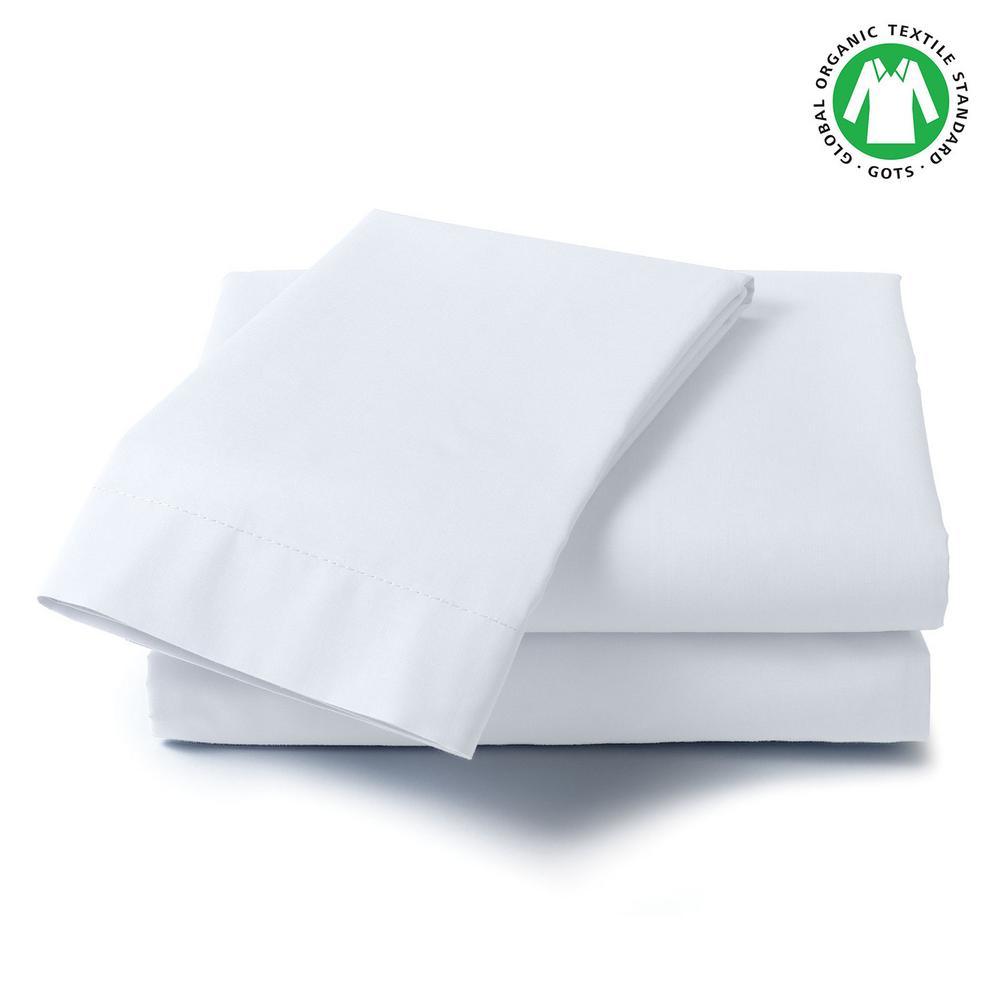 100% Organic Cotton Solid Wrinkle Resistant Sheet Set