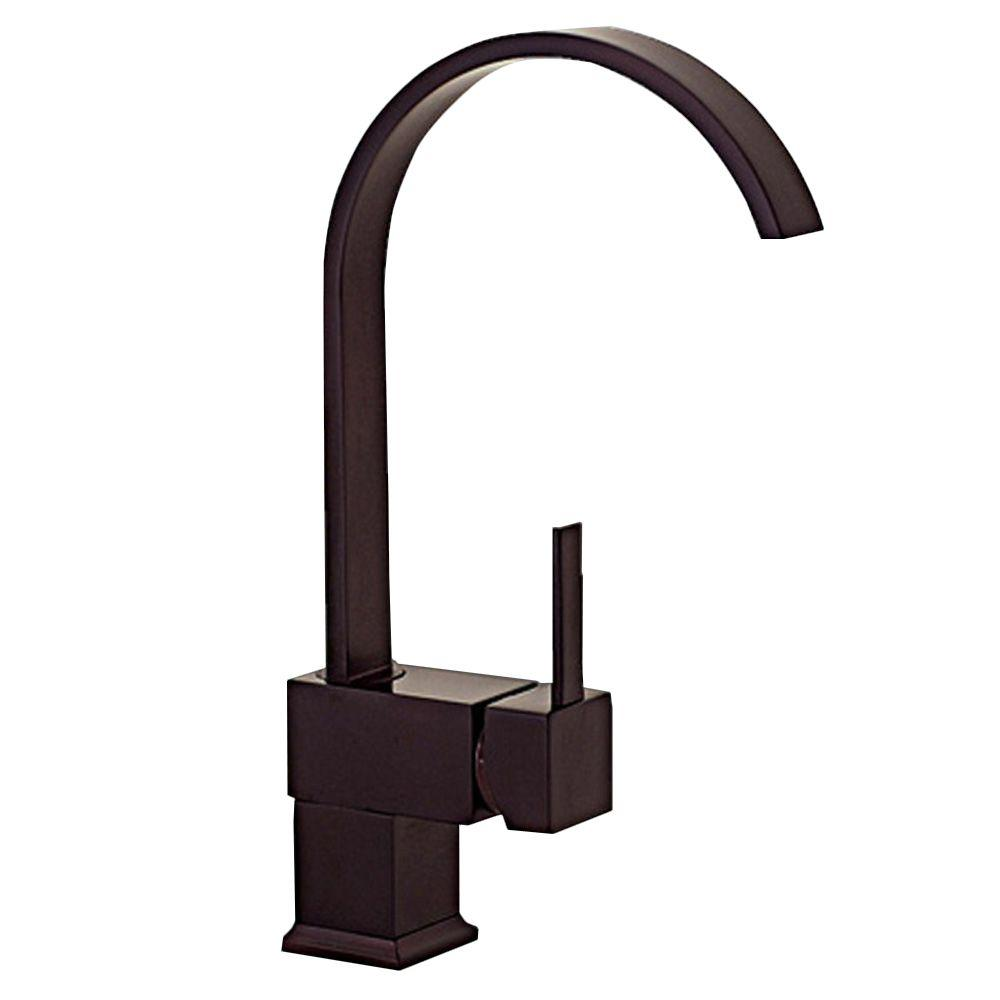 Kokols single hole single handle vessel bathroom faucet with swivel spout in oil rubbed bronze for Oil rubbed bronze bathroom faucets