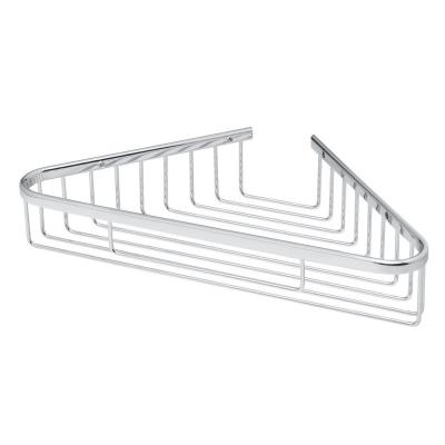 Hotel Wall-Mounted Shower Caddy with Mounting Hardware in Polished Chrome