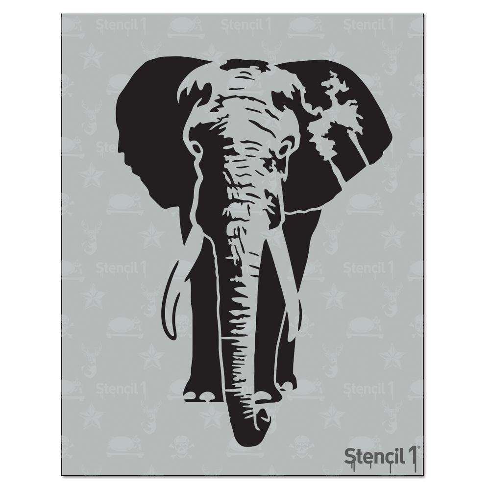 Stencil1 Elephant Stencil S1 01 303 The Home Depot