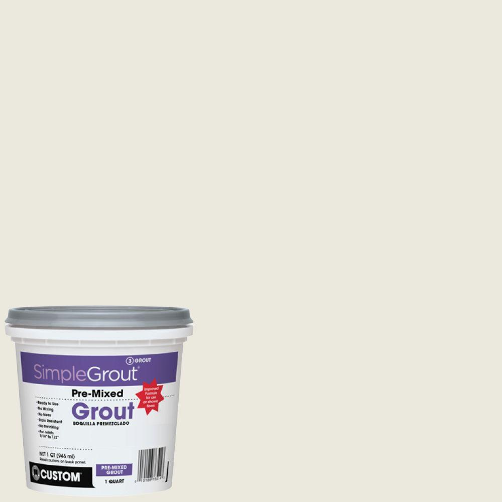 Simplegrout 381 Bright White 1 Qt Pre Mixed Grout