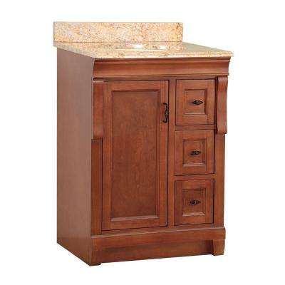 Naples 25 in. W x 22 in. D Vanity in Warm Cinnamon with Vanity Top and Stone Effects in Tuscan Sun