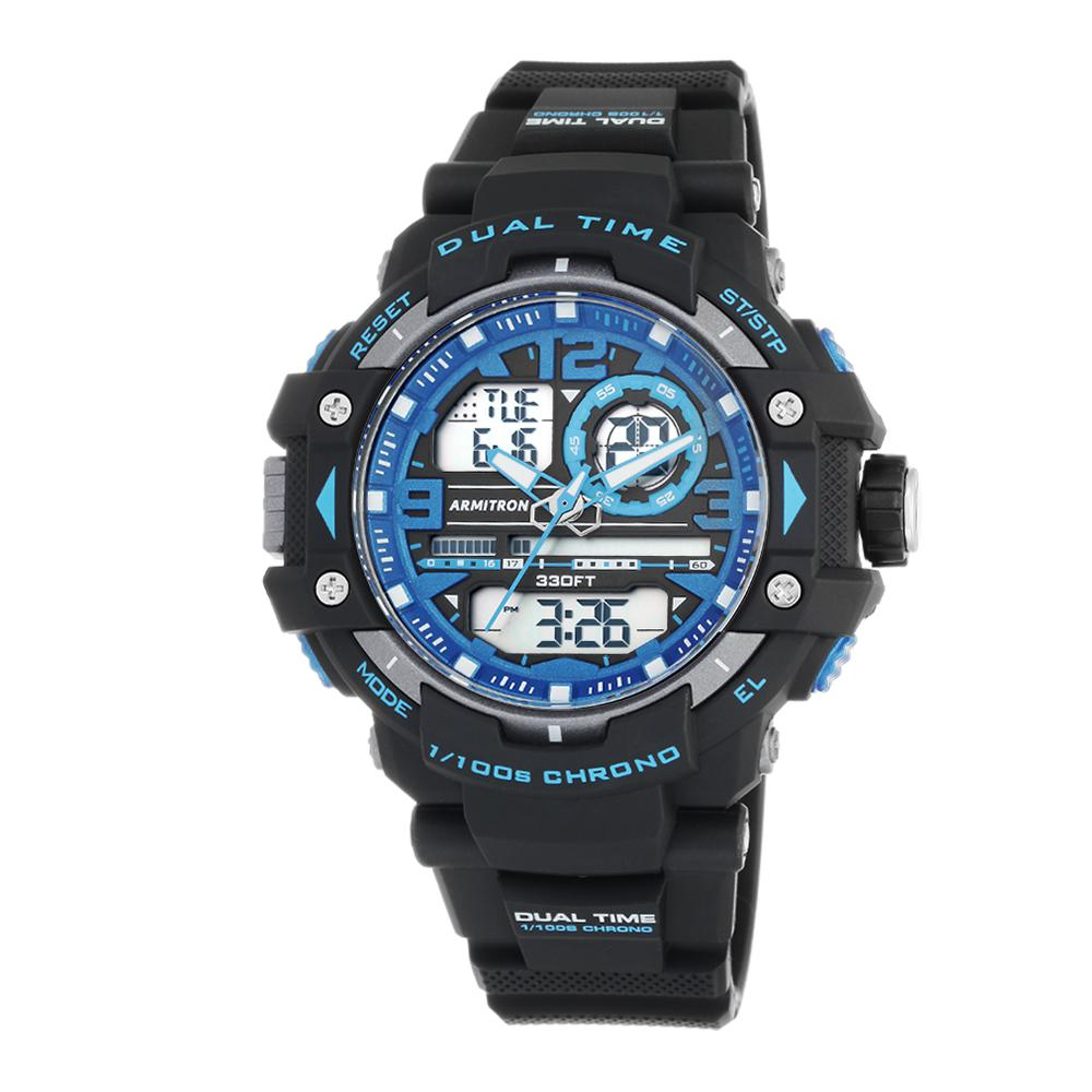 Pro Sport Analog Digital Blue Dial Chronograph Watch