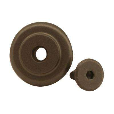 1-1/4 in. Dia Standard Oil Rubbed Bronze Rail End Stop