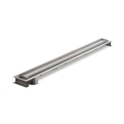 48 in. x 6.15 in. Stainless Steel Linear Shower Drain with End Bottom Outlet