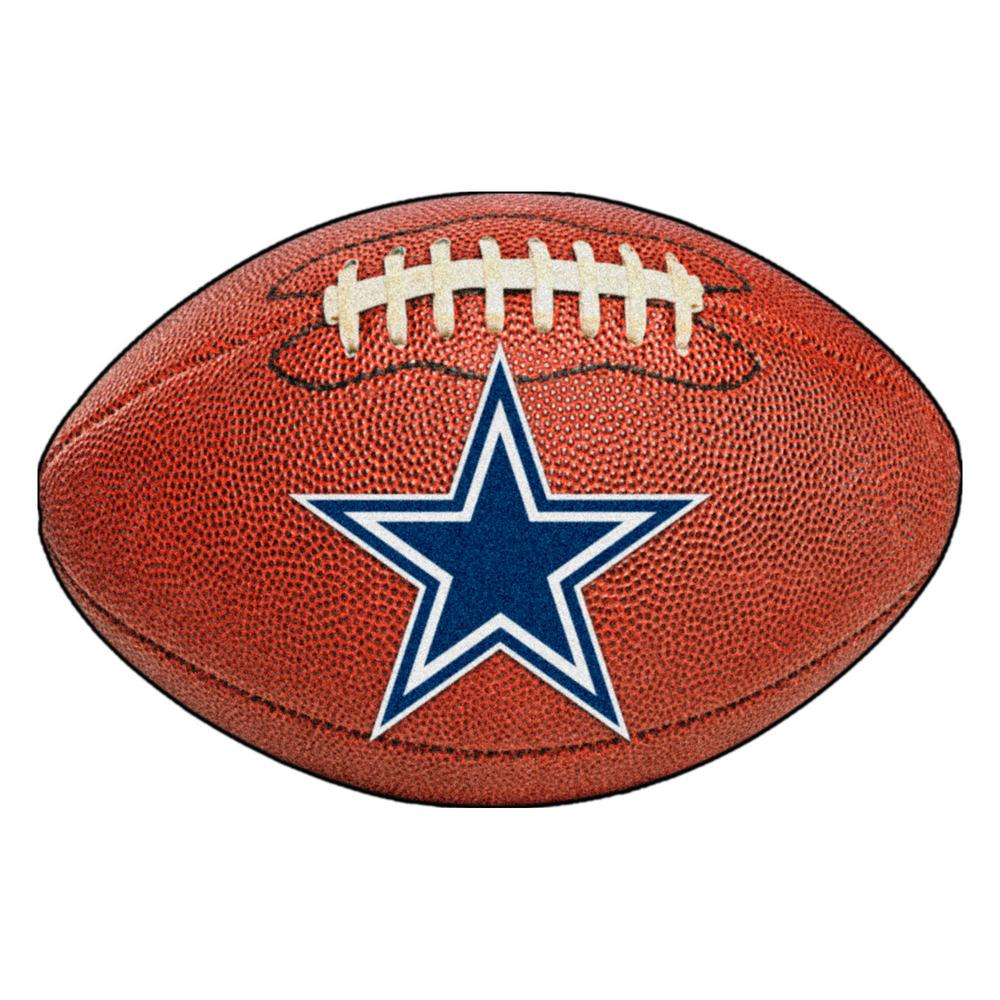 Fanmats Nfl Dallas Cowboys Photorealistic 20 5 In X 32 5 In Football Mat