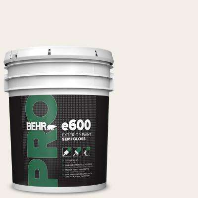 5 gal. #RD-W10 New House White Semi-Gloss Acrylic Exterior Paint