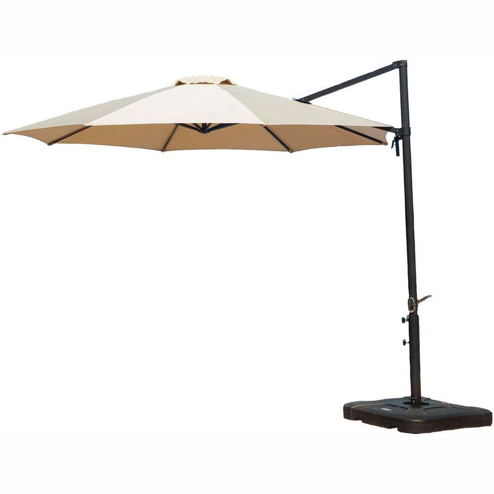 cambridge cantilever 11 ft. patio umbrella in tan