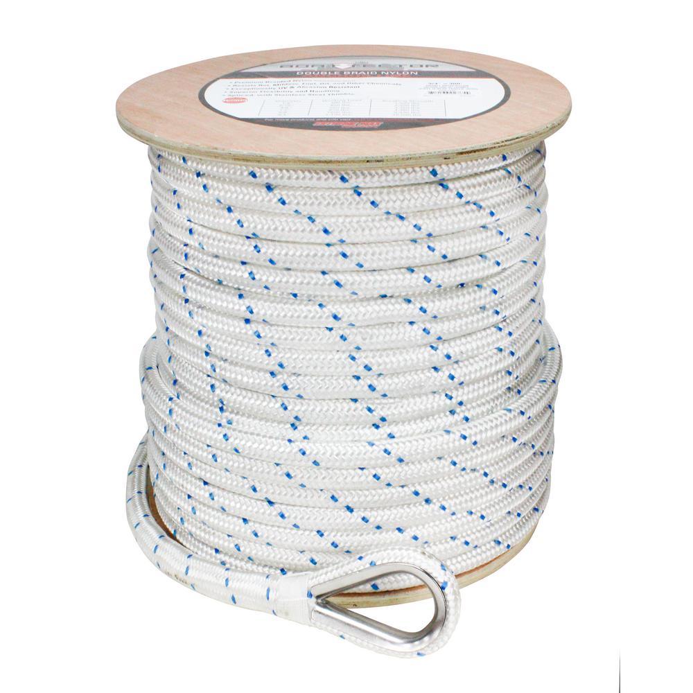 1//4 x 100 Double Braid gold//white nylon line