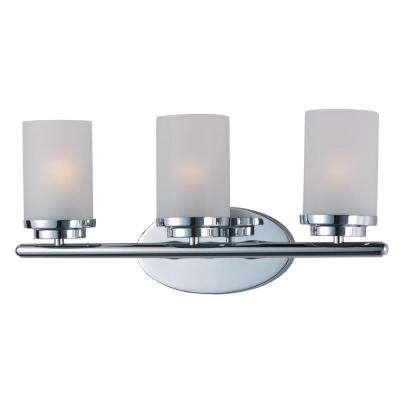 Corona 3-Light Polished Chrome Bath Light Vanity
