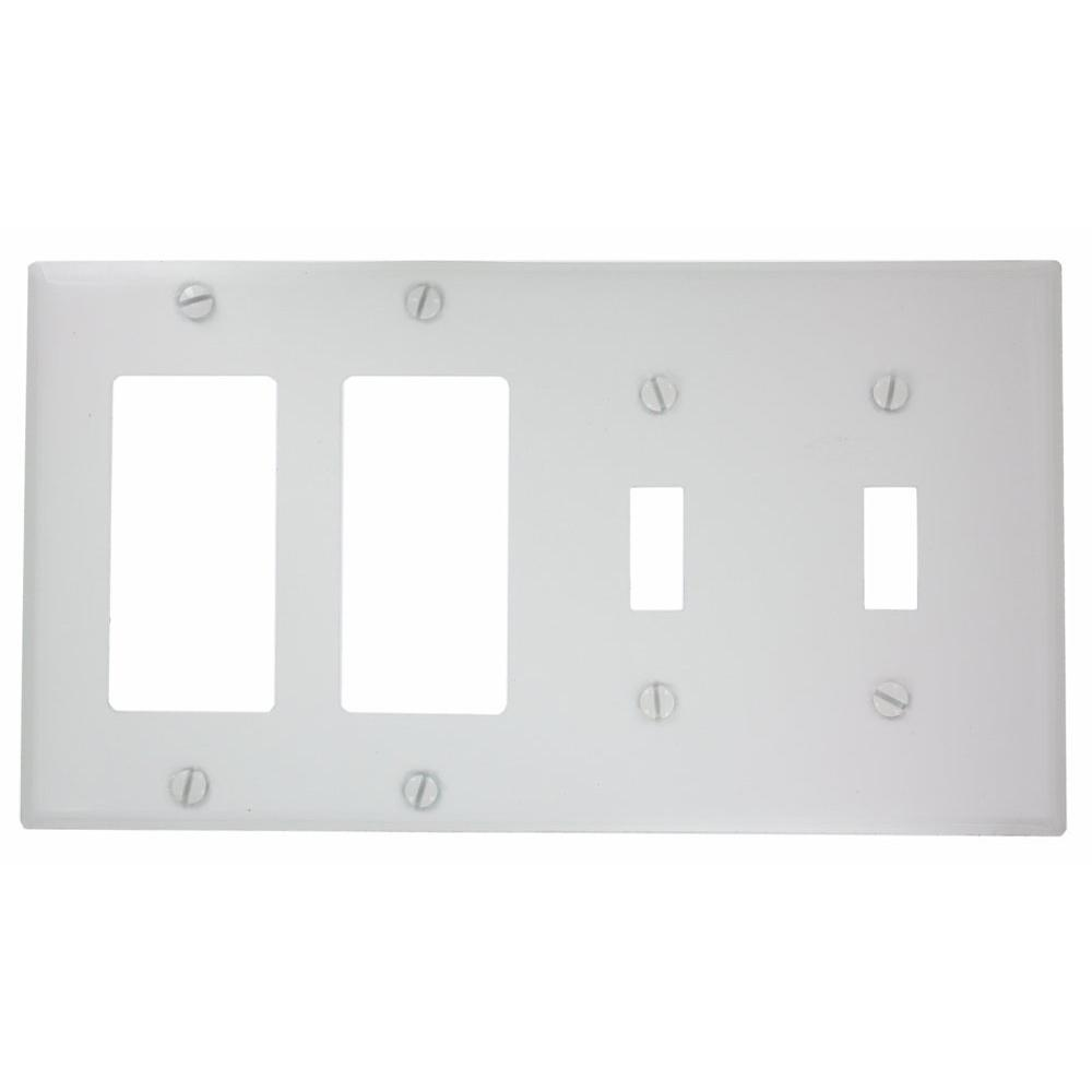Leviton 4 Gang 2 Toggles 2 Decora Standard Size