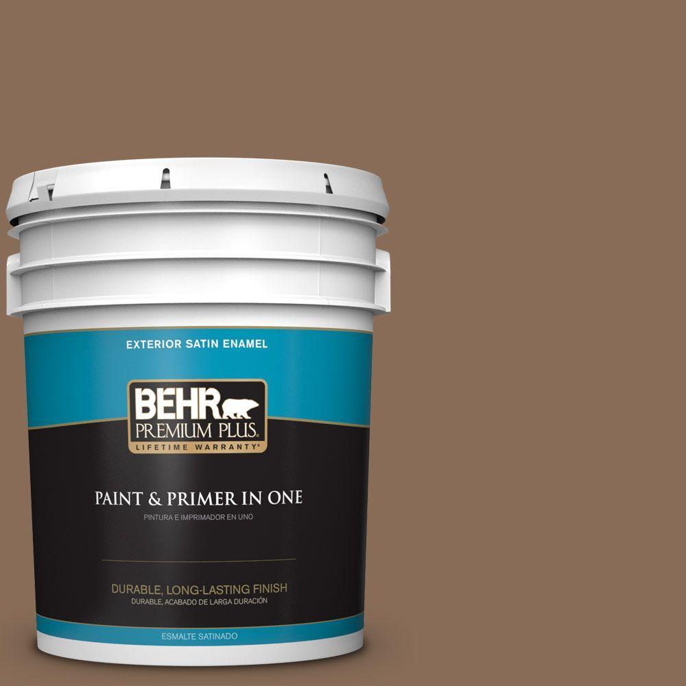 5-gal. #BNC-34 Spiced Latte Satin Enamel Exterior Paint