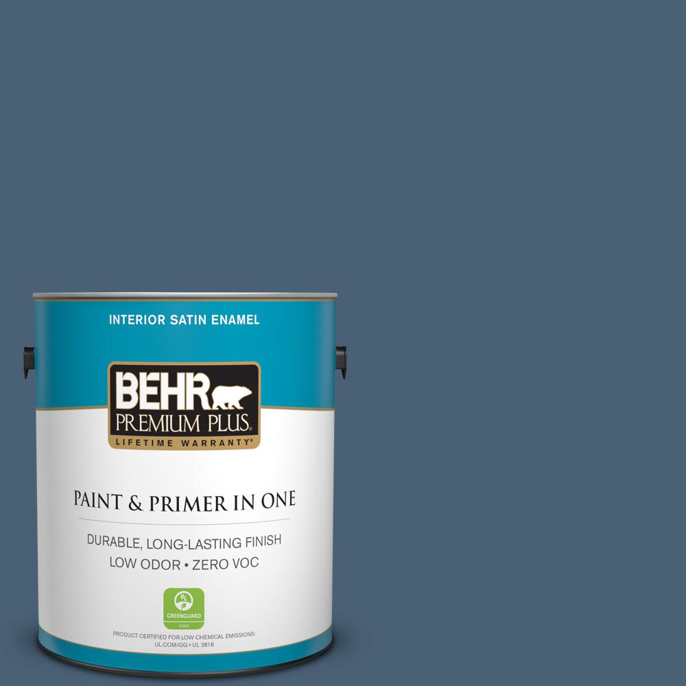 1 gal. #PPU14-19 English Channel Zero VOC Satin Enamel Interior Paint